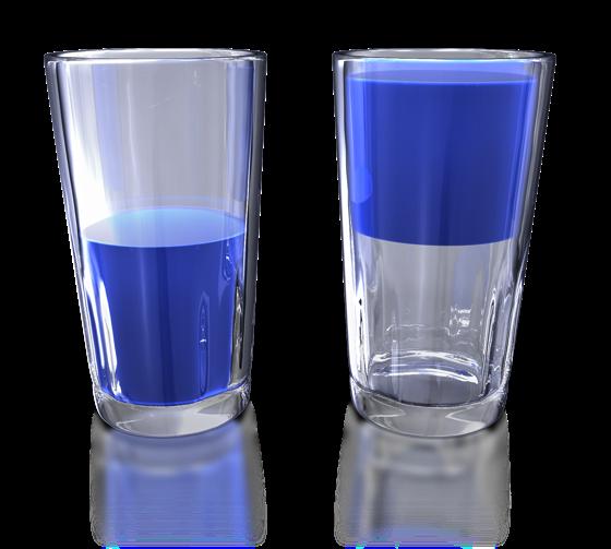 Är glaset verkligen halvtomt?